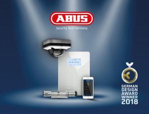 German Design Award 2018 voor Secvest Touch draadloos alarmsysteem van ABUS