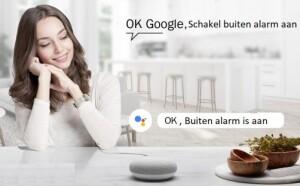 AVS alarmsysteem bedienbaar met Google home smart speaker