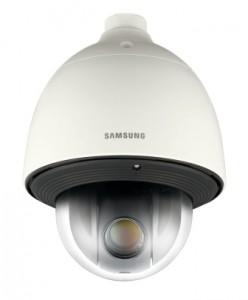 Samsung Techwin introduceert 1,3 MP HD 43x PTZ-snelheidsdome met automatische tracering